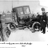 Toronto first electric car accident