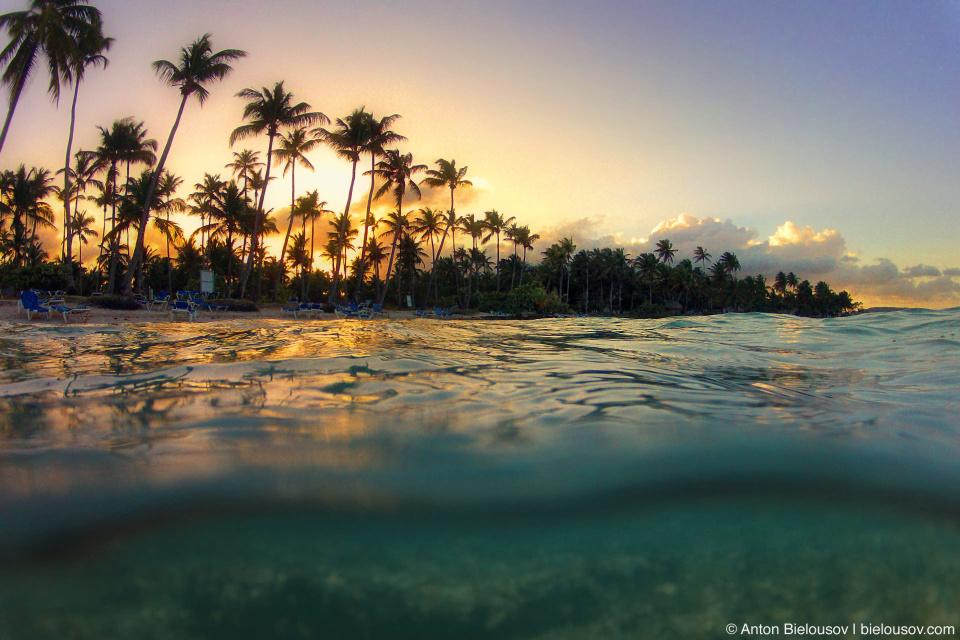 0 сантиметров от уровня моря — часть фото под водой в Атлантическом океане (GoPro Hero2)