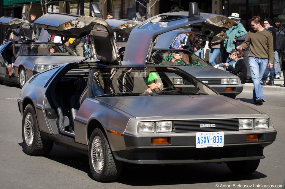 DeLorean at Toronto St. Patrcik Parade