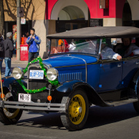 Vintage car at Toronto St Patrick Parade