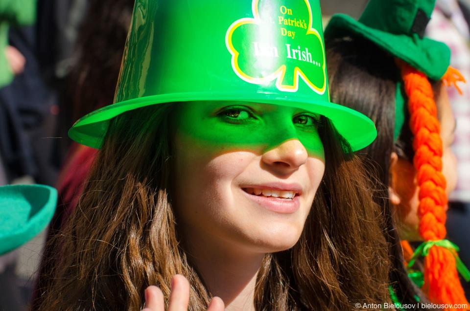 Hat reflections at Toronto St. Patrick Parade