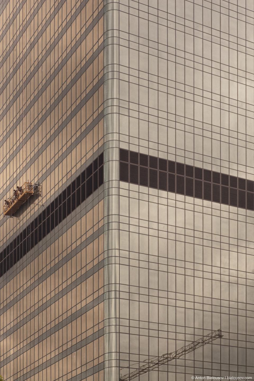 Строительство небоскребов Москва-Сити