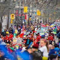 Toronto Easter Parade going through Queen St. East