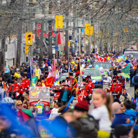 Toronto Easter Parade going through Queen St. East
