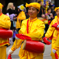 Сhinese band at Easter parade in Toronto