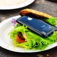 Hamburger with iPhone 3Gs