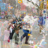 Toronto Easter Parade Multiple Exposure