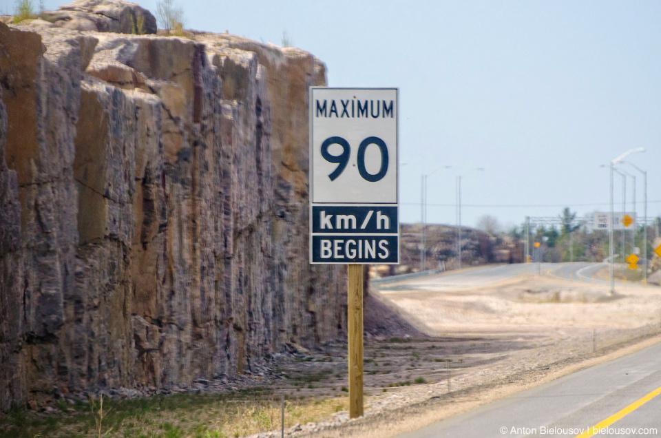 90 kmph road sign