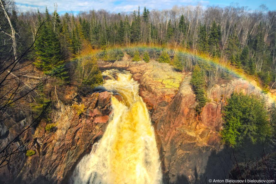 Aguasabon Falls rainbow