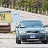 Audi Allroad Quattro at old gas station in Northern Ontario