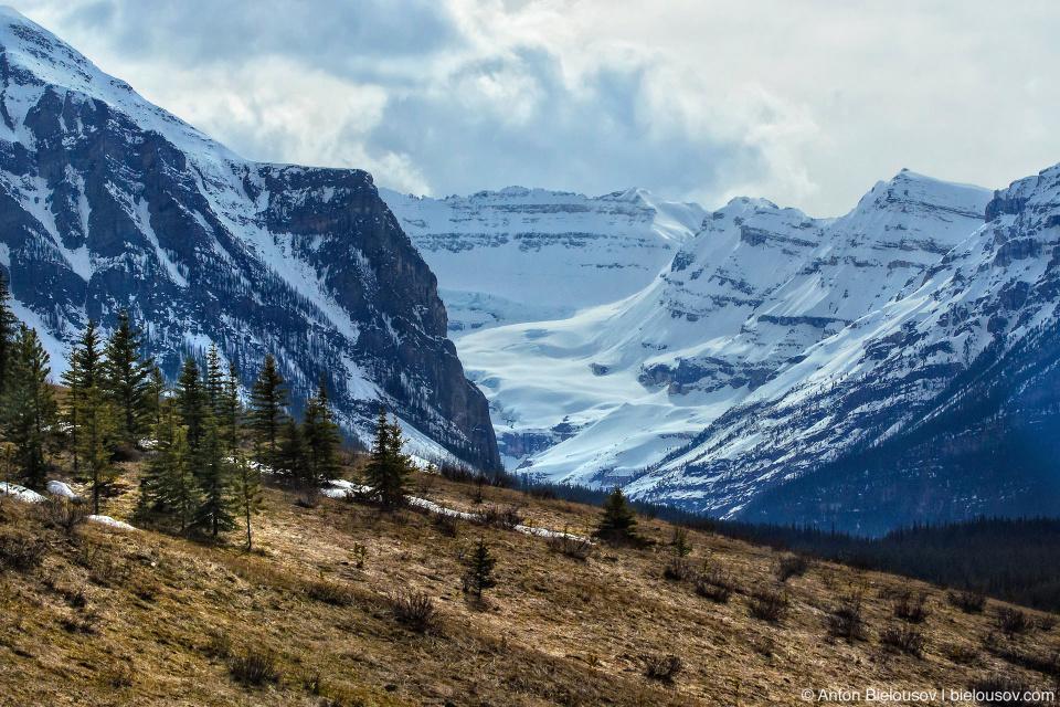 Banff National Park mountains snow tops