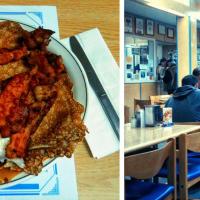 Crêpes for breakfast in Hoito — finnish restaurant in Thunder Bay, ON