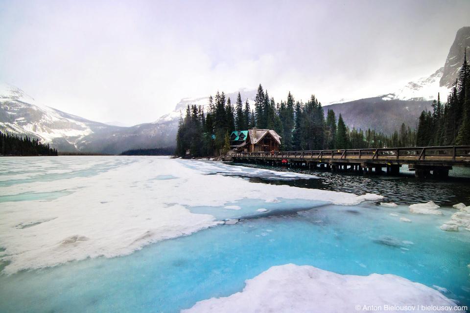 Frozen Emerald Lake