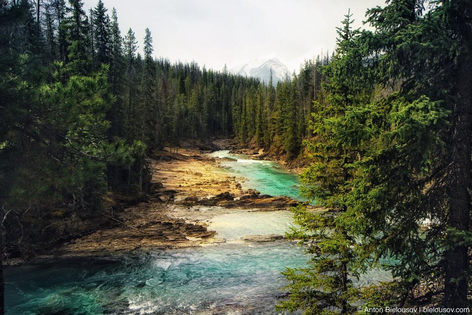 Natural Bridge in Banff/Yoho Natioanal Park