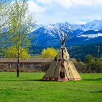 Teepee in British Columbia