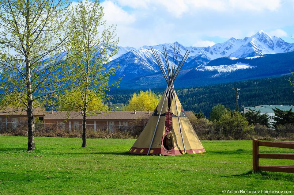 Teepee in British Columbia