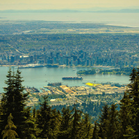 Vancouver, BC view from Grouse Mountain