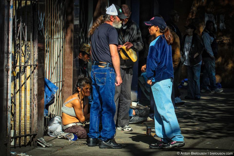 West Hastings Street junkies in Vancouver, BC
