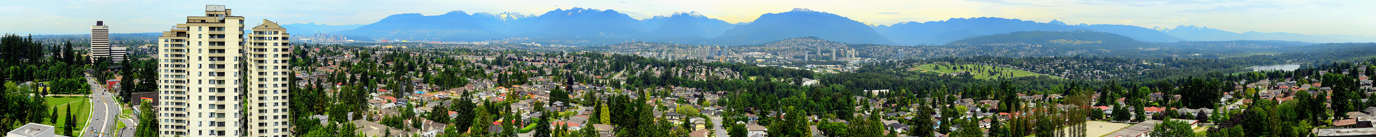 Vancouver panorama from my balcony in Burnaby, BC