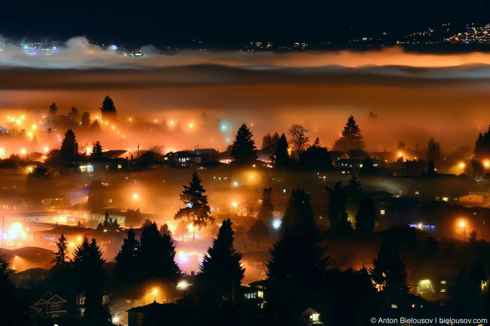 Ночью облака отправляются по домам спать