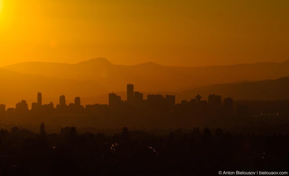 Vancouver Downtown sunset landscape