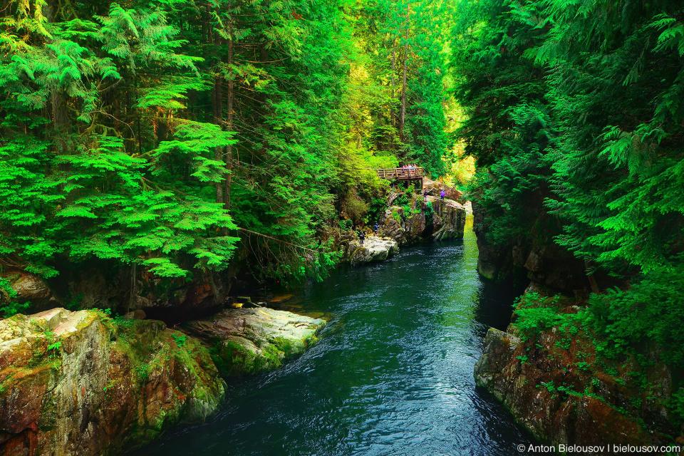 Capilano river, North Vancouver, BC