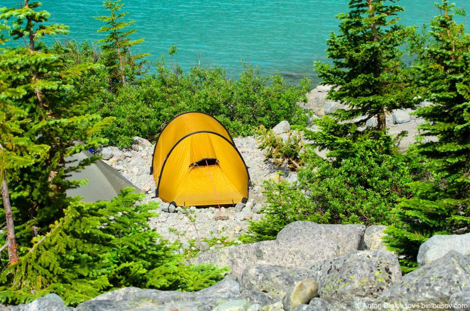 Upper Joffre Lake camping
