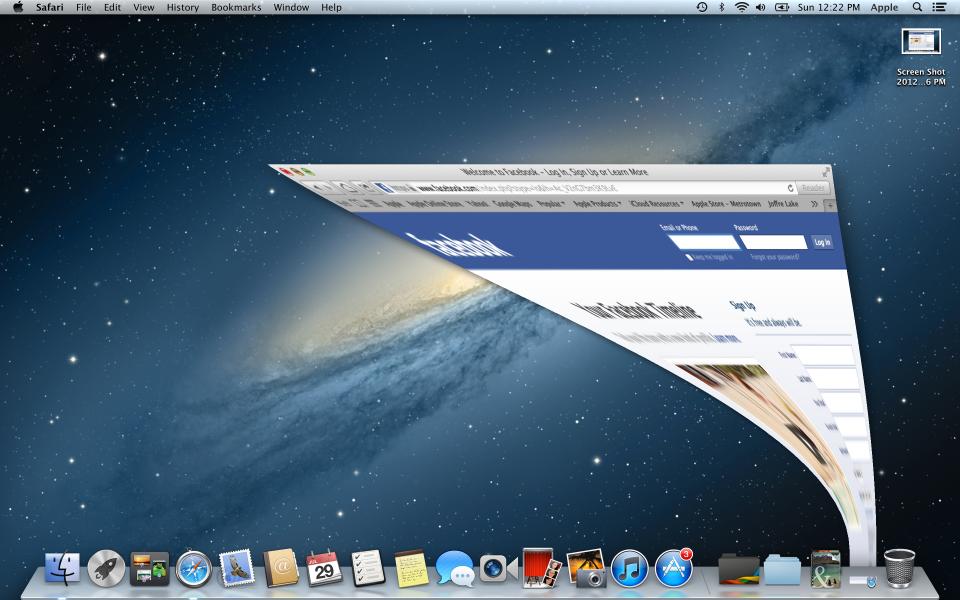 MacBook Pro Retina display screenshot pixelated genie effect