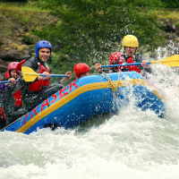 Rafting the Coquihalla River in British Columbia with Mobify team (June, 2012)