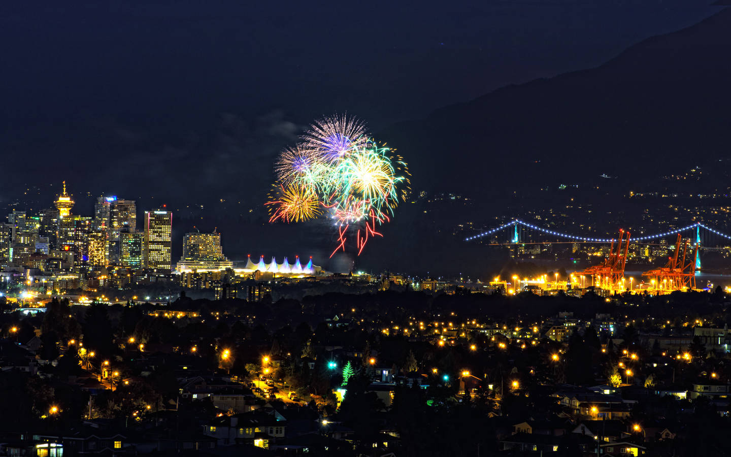 Vancouver Canada Day fireworks (2012)