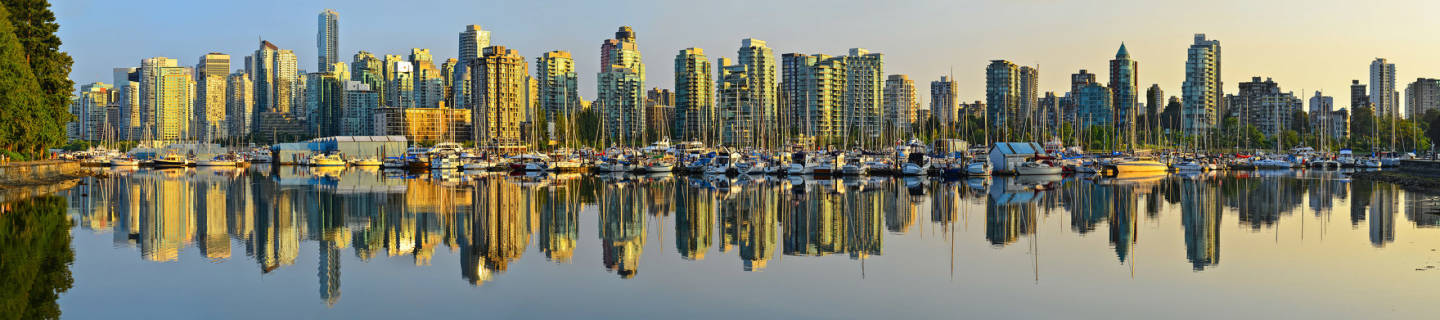 Vancouver downtown West End waveform panorama
