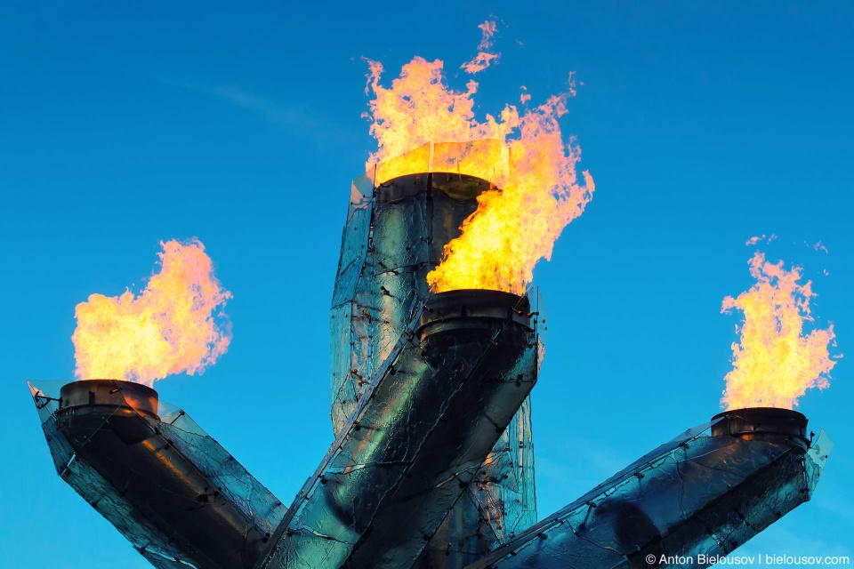 Vancouver Olympic flame cauldron