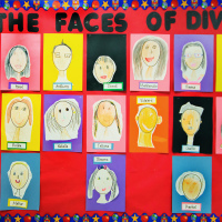 Chaffey Burke School division 18 self-portraits