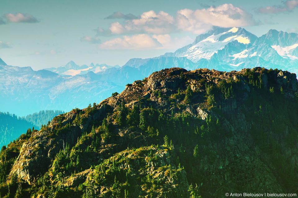 Вид с вершины горы Grouse Mountain