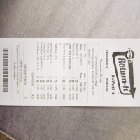 Кассовый чек за сданные бутылки: $4.10