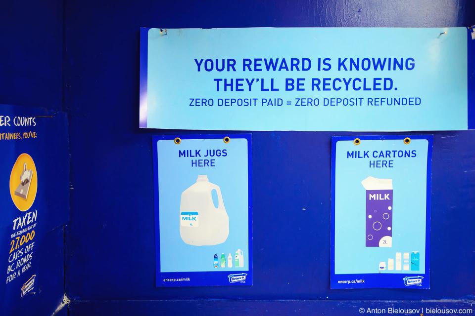 Молочные пакеты и канистры перерабатываются бесплатно