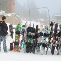 Парковка сноубордов