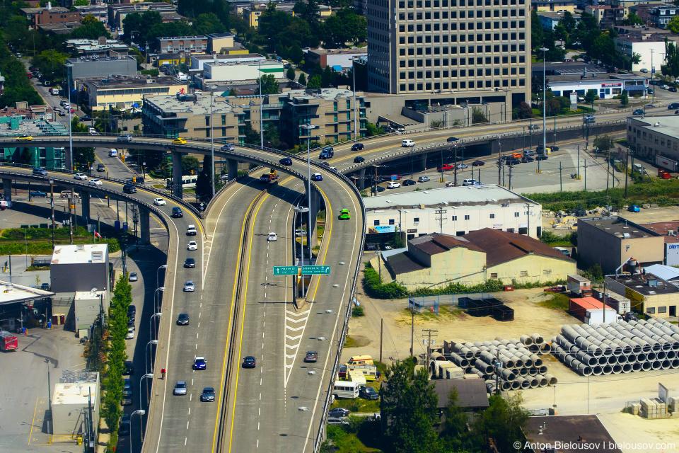 Aerial photo: Grant McConachie Way (Vancouver, BC)