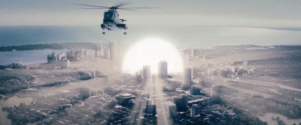 Resident Evil screen shot: nuclear explosion in Toronto downtown