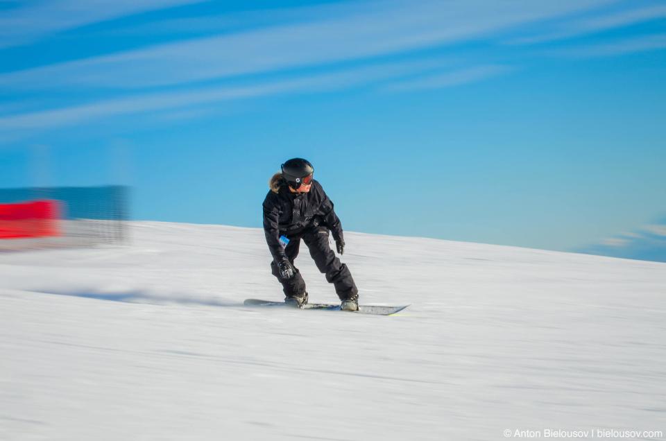 Сноубордист. Фото с проводкой.