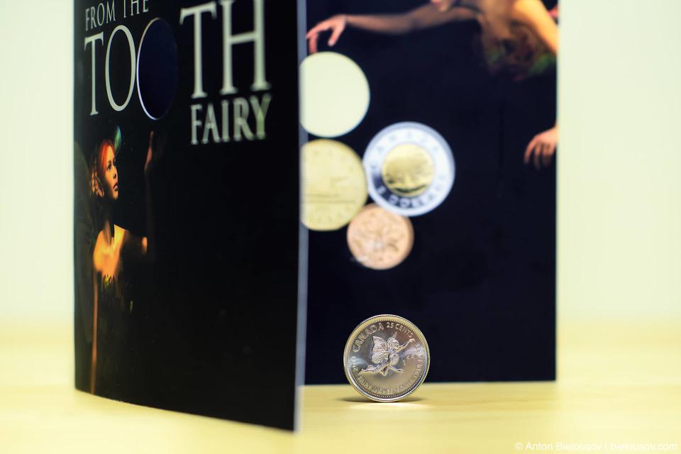 Канадская монета 25¢ с зубной феей образца 2011 года