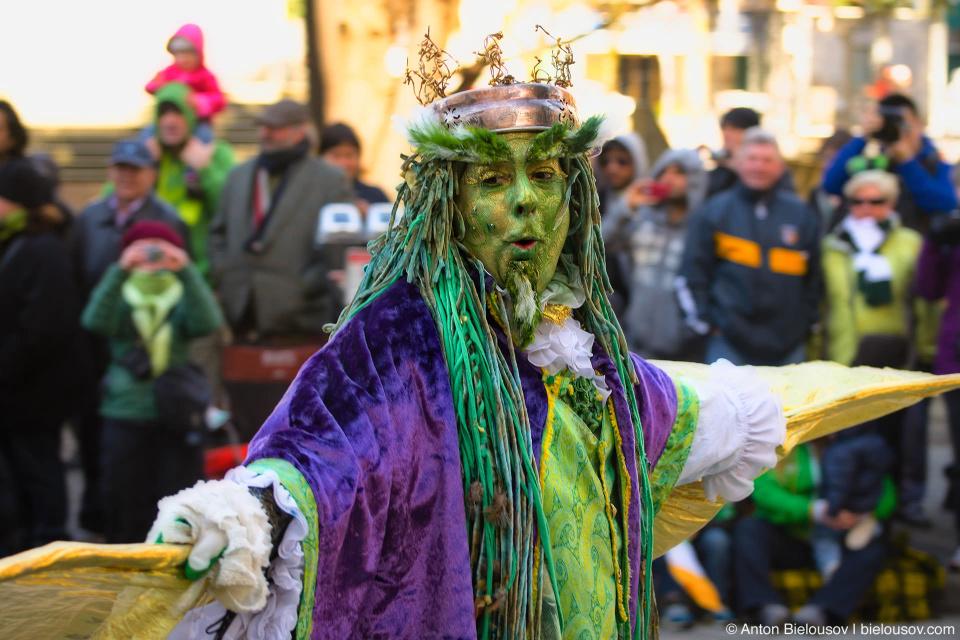 Друид на параде Святого Патрика в Ванкувере