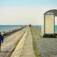 «Трамвайная остановка» — укрытие для застигнутых врасплох погодой на косе Iona Jetty