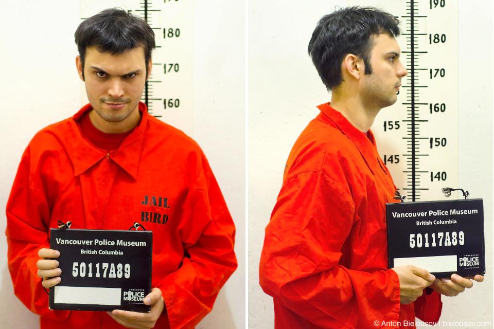 Антон Белоусов: фото арестанта в музее полиции Ванкувера