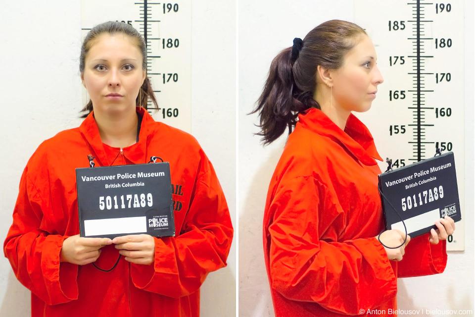 Фотогрпфия заключенной в музее полиции Ванкувера