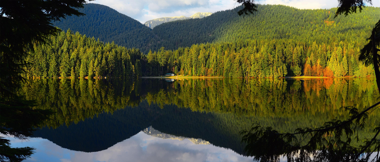 Отражения в озере Sasamat Lake