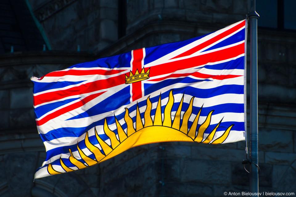 Флаг канадской провинции Британская Колумбия