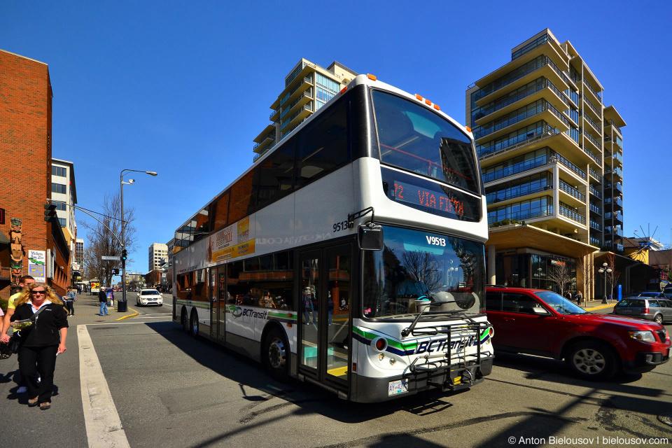 Двухэтажные автобусы в Виктории