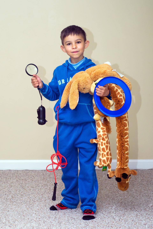 Ребенок берет в поход только все самое необходимое