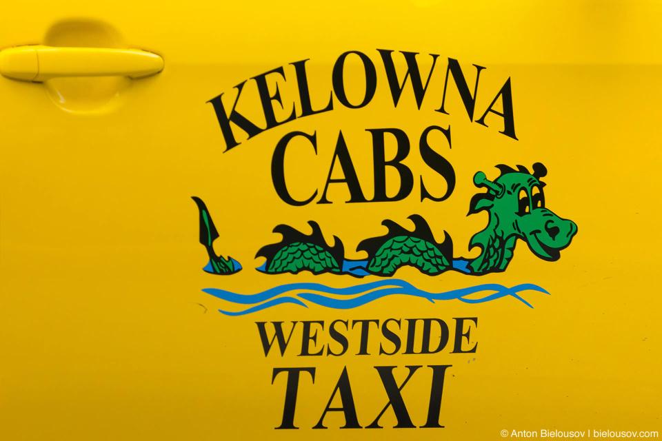 Логотип келоуновского такси (как и в Ванкувере таксопарк в основновном состоит из Приусов)